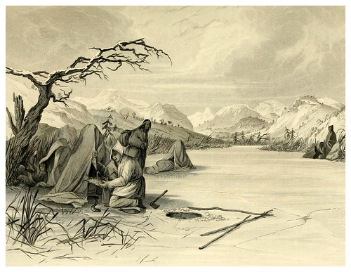 017-Pescando en invierno-The Indian tribes of the United States..1884-H. R. Schoolcraft