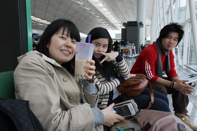 香港機場 珍珠奶茶