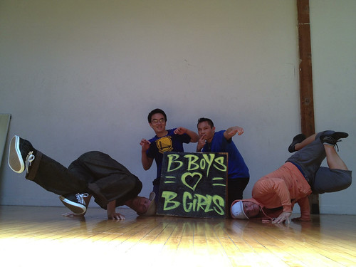 B-boys and b-girl