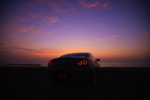 ocean sunset skyline nissan wide shimane coupe magichour infiniti taki izumo スカイライン d600 島根 1635mm 日産 出雲 taillump g37 infinitig37 nanocrystalcoat 多伎 breaklump