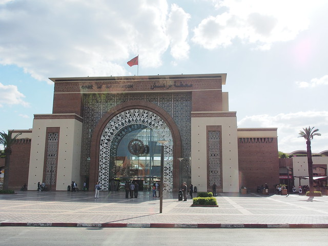 MARRAKESH的火車站