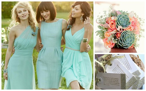 {Mint, Coral + Gold} Bridesmaid's Style by Nina Renee Designs