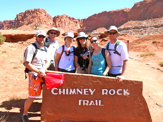 CMC Hikers at Chimney Rock Trail Head