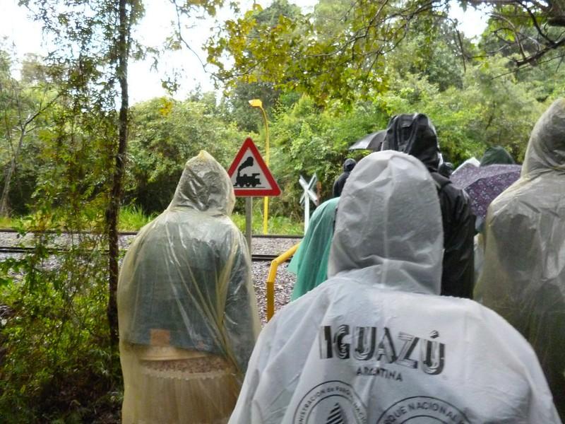 Walking in the rain in Iguazu Park