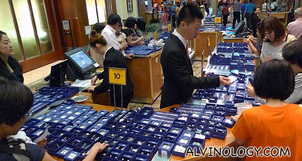 Swarovski jewelry on sale at the Promenade