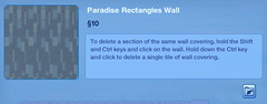 Paradise Rectangles Wall
