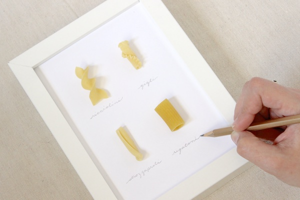 Fabric Paper Glue | DIY Pasta Specimen Art inspired by All You Magazine