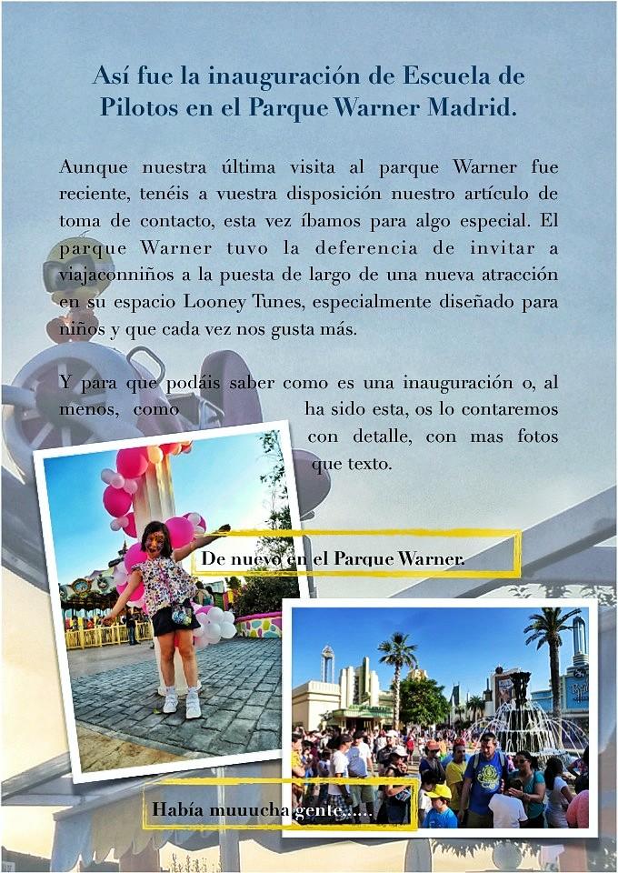 Parque Warner inauguración Academia de Pilotos Genoveva Casanova