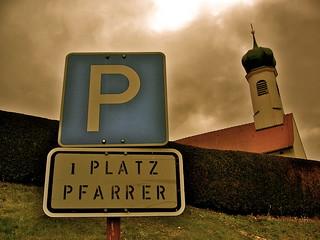 1 Platz Pfarrer