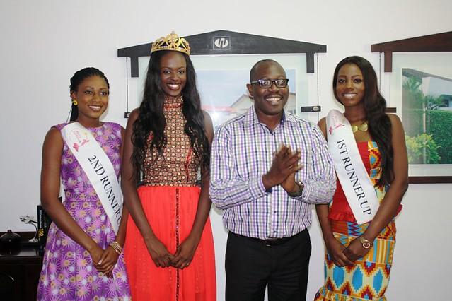 Miss Ghana 2013 winners visit Manet