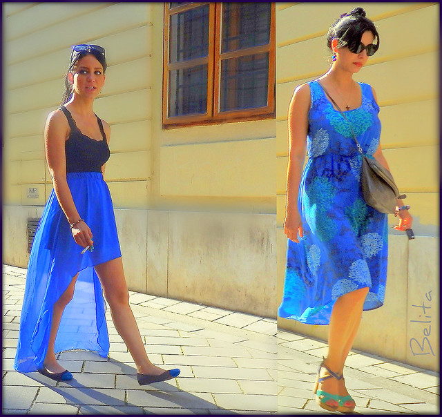 YOUNG LADIES IN BLUE