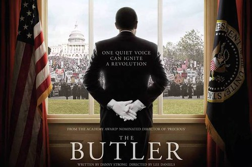 The poster of the Butler, which frames the butler against the window of the white house