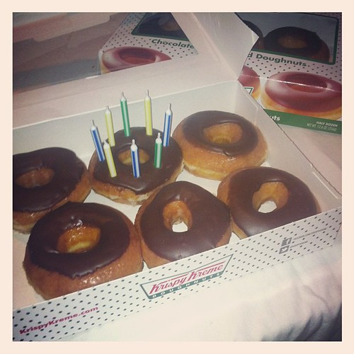 Bday donuts for my darling. #merrysbday