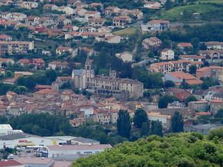 058 Uitzicht op hotel Creissels vanaf uitkijkpunt boven