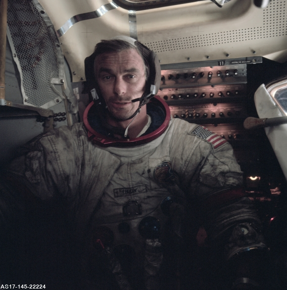 Gene Cernan's Dusty Spacesuit