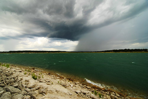 sky lake water rain clouds day waves texas stormy canyon rainy