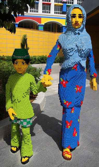 Brother and sister from Lego