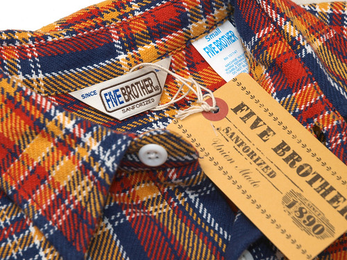 Five Brother / Extra Heavy Flannel Check Work Shirt