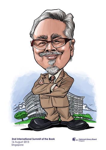 NLB digital caricature - Professor Prasenjit Duara