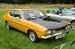 race car, automobile, automotive exterior, vehicle, performance car, ford capri, antique car, land vehicle, sports car,