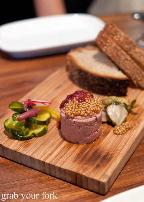 chicken liver pate at craft bar by tom colicchio top chef judge flatiron district nyc new york usa