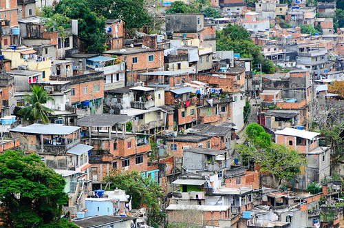 one of Rio's favelas (by: David Schenfeld, creative commons)