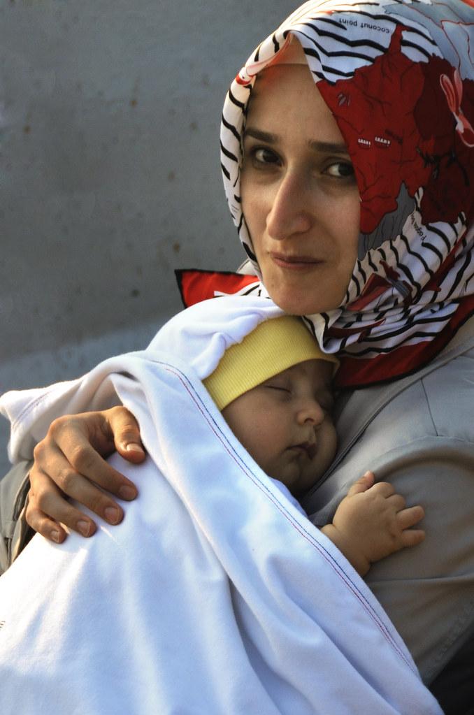 Madre y bebé en Estambul, Uskudar