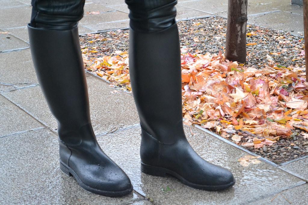 Botas de agua para la lluvia