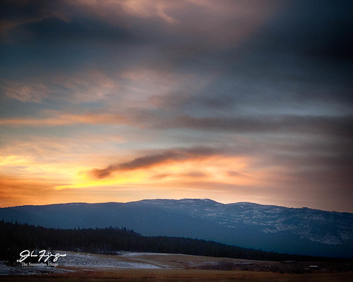 ranch trees sunset canada clouds landscape britishcolumbia hills kamloops