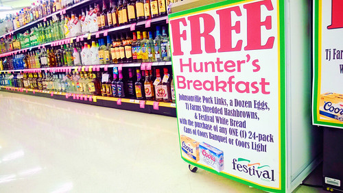 free wisconsin-style hunter's breakfast with purchase.