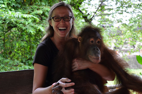 Me and Evelyn the Orangutan