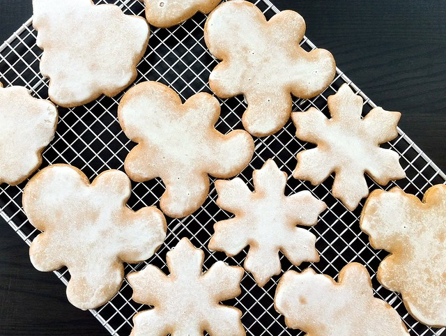 Glazed Gingerbread Cutout Cookies