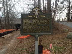 Powers Ferry Historical Marker