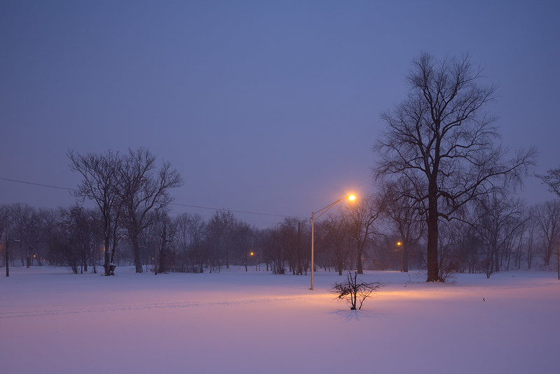Streetlight, In the Snow