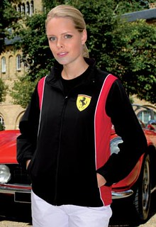 Ferrari Logo Black Jacket for Womens