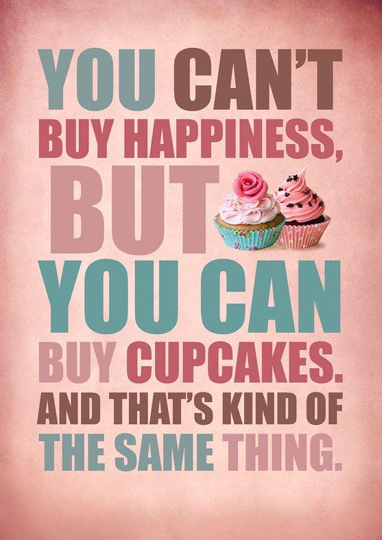 纸杯蛋糕中的幸福