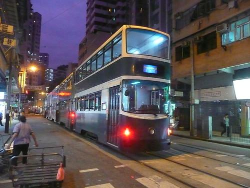 Hong Kong Millennium tram 170 to Shaukeiwan
