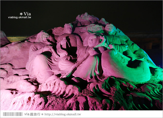 【2014台灣燈會在南投】南投沙雕燈會~夜間點燈好浪漫!還有精彩光雕秀12