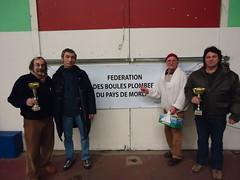 08/02/2014 - Pouliet (Morlaix) : Les finalistes du concours de boules plombées en doublettes mêlées
