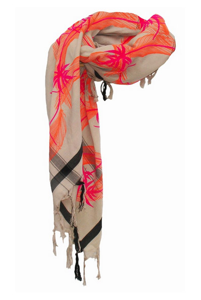 Splendid Triangle Unfinished Tassel Scarf