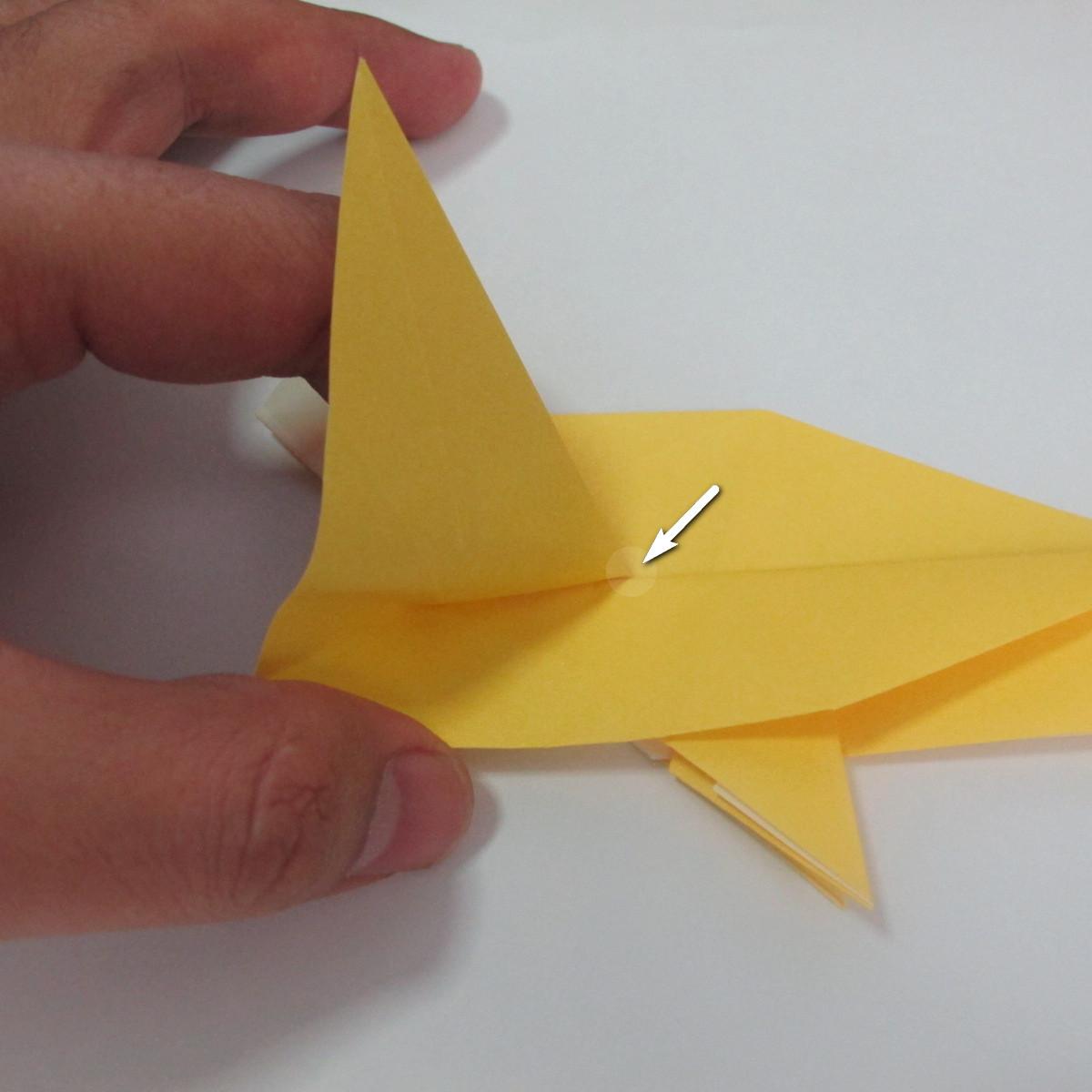 สอนวิธีพับกระดาษเป็นรูปลูกสุนัขยืนสองขา แบบของพอล ฟราสโก้ (Down Boy Dog Origami) 053