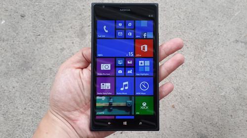 ด้านหน้าของ Nokia Lumia 1520