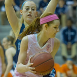 2014-02-45 -- Women's basketball vs. Elmhurst. Annual Pink Zone game.
