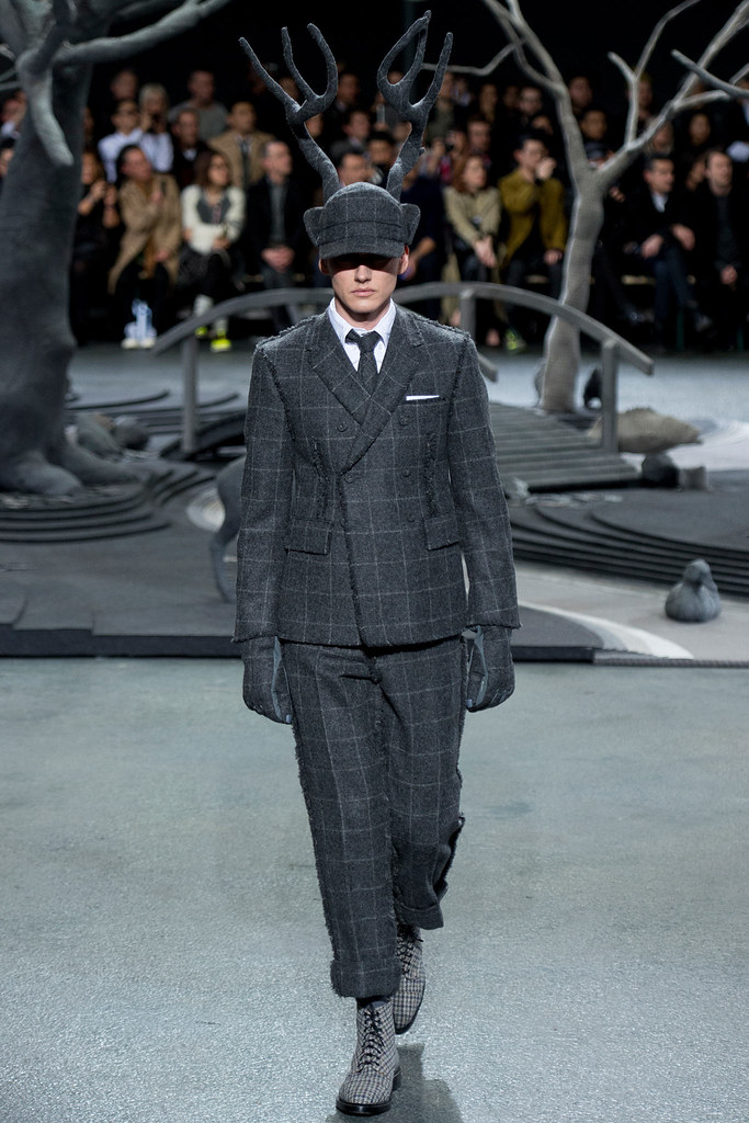 Jakob Hybholt4147_FW14 Paris Thom Browne(VOGUE)