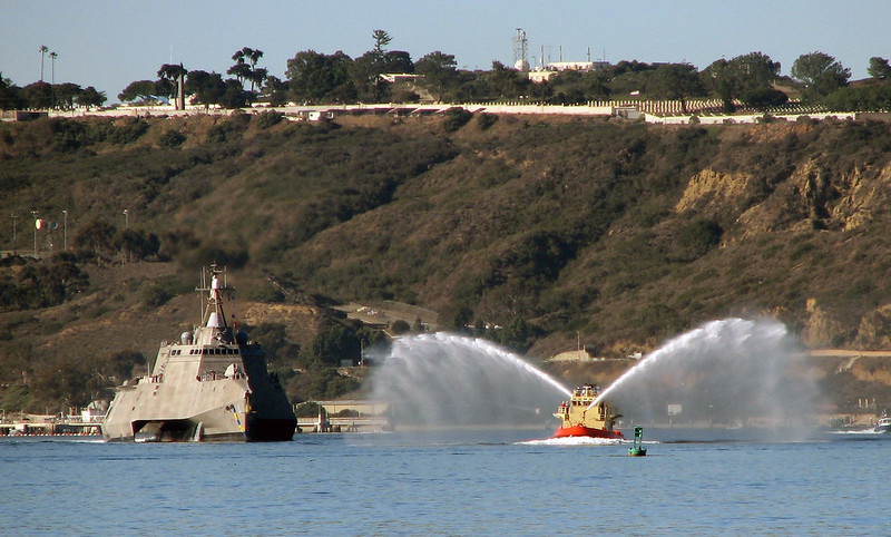 Coronado (LCS 4) arrives in her homeport
