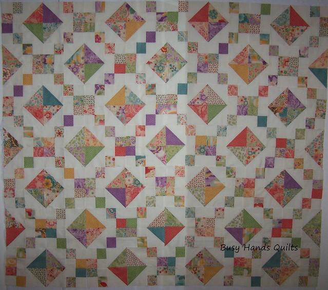 Custom Queen Sized Jacob's Ladder Quilt in Mimi