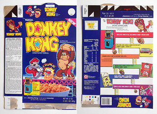 1983 Ralston Donkey Kong Cereal Box Arcade Game