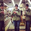 Antique shop triple reflection.