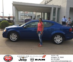 Congratulations to Kayla Flemons on your #Dodge #Avenger purchase from Markynn West at Holt Chrysler Jeep Dodge! #NewCar