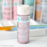 Kunzite acrylic glitter paint